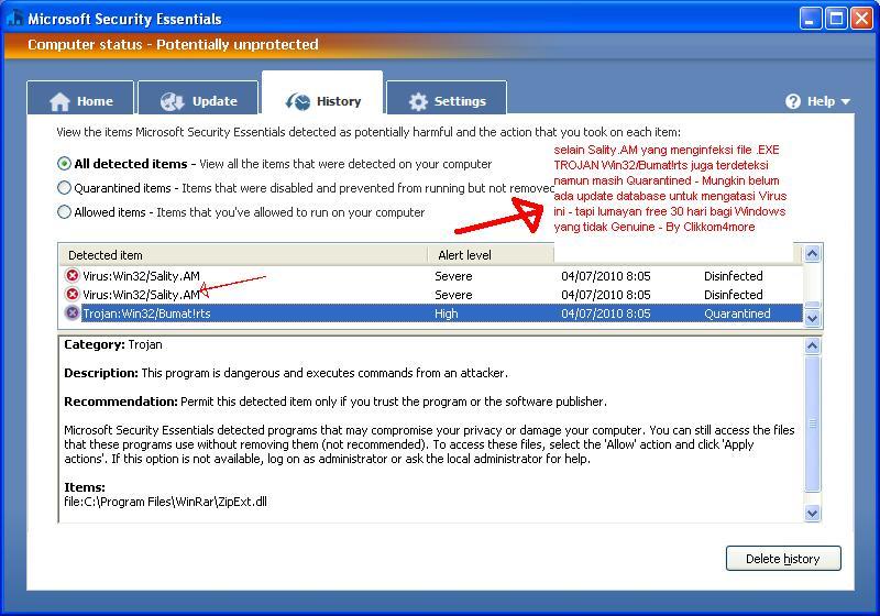 Warnet Bebas Virus setelah Pakai Antivirus Microsoft MSE