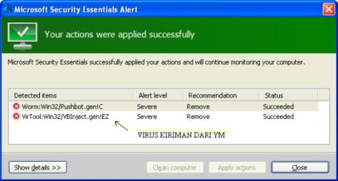 virus dari YM