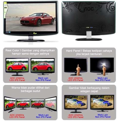 AOC i2340Ve IPS LED Monitor